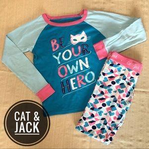 "Cat & Jack ""Be Your Own Hero"" Long Sleeve PJ Set"